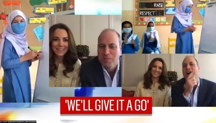 1 Prince William, Kate Middleton play a game