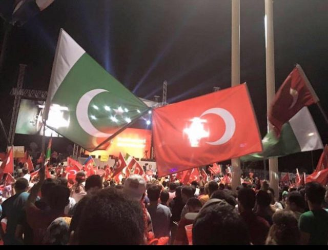 Pakistan Turkey Flag
