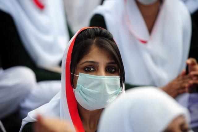 PAKISTAN-HEALTH-ECONOMY-PROTEST