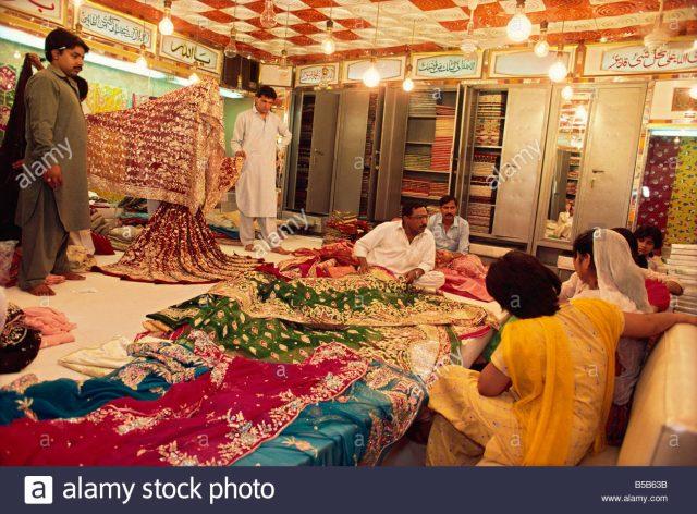 Textile and silk sari shop Anarkali Bazaar