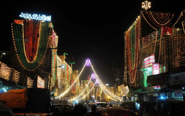 Pakistan lights up for Eid Milad-un-Nabi