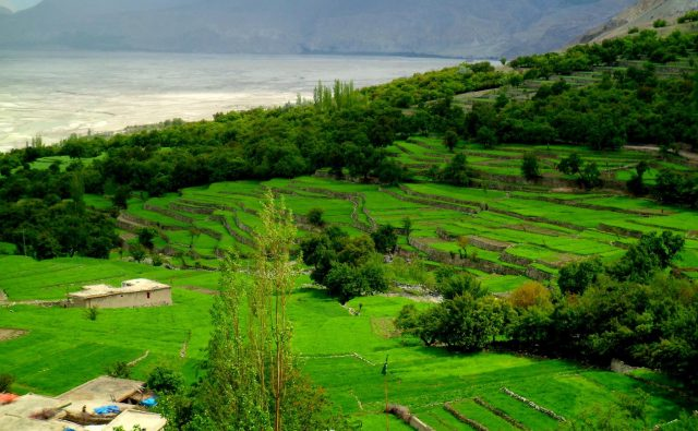 Beautiful view of Machlu Khaplu, Skardu, Gilgit Baltistan