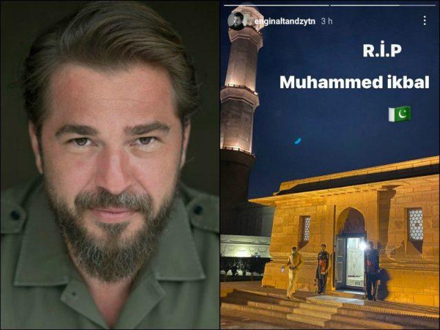Diriliş Ertuğrul star visits shrine of Allama Iqbal, Badshahi Mosque