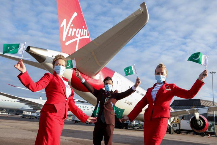 Virgin Atlantic's maiden flight from Manchester lands in Islamabad