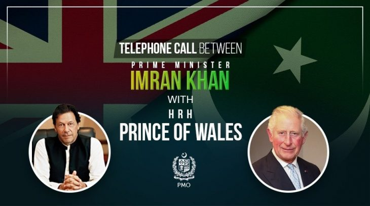 Prime Minister holds telephonic conversation with the Prince Charles of Wales