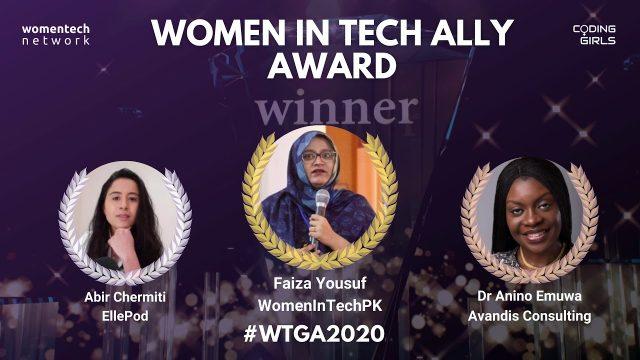 Faiza Yousuf rocked the WomenTech Global Awards 2020