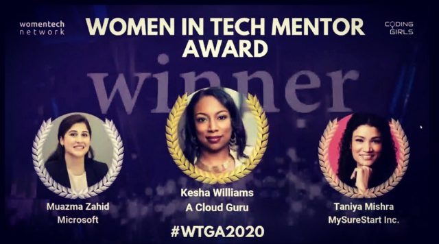 Muazma Zahid rocked the WomenTech Global Awards 2020