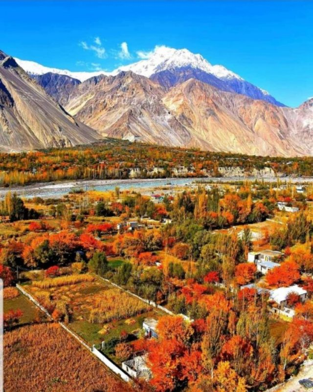 The colours of Gilgit Baltistan just before the onset of winter