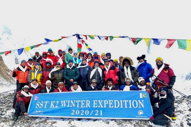 Nepali climbers return to base safely after historic scaling of Pakistan's K2 in winter