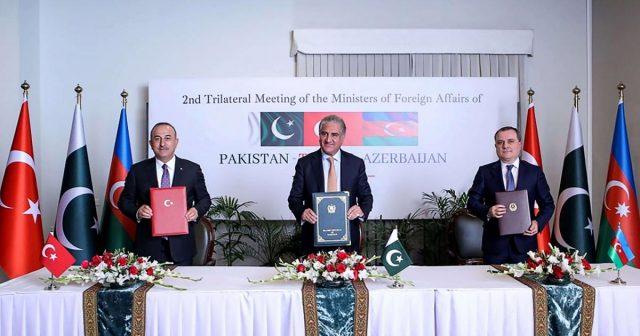 Turkey, Azerbaijan and Pakistan pledge mutual support in territorial disputes