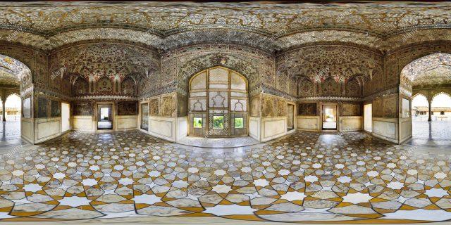 360° View of Sheesh Mahal (Palace of mirrors) at Lahore fort