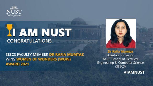 Dr Rafia Mumtaz received the Women of Wonders WOW Award 2021