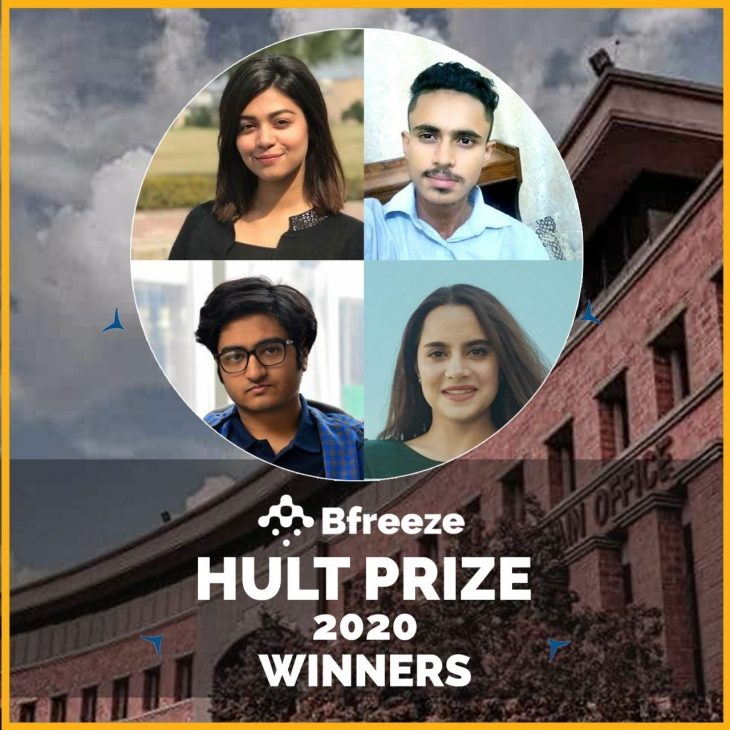 NUST team 'Bfreeze' selected to receive $100K seed award by the The Hult Foundation