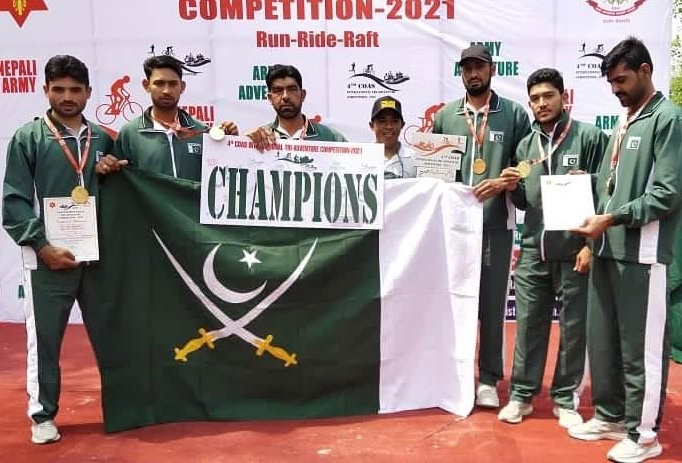 Pakistan Army Team wins GOLD medal in International Adventure Competition