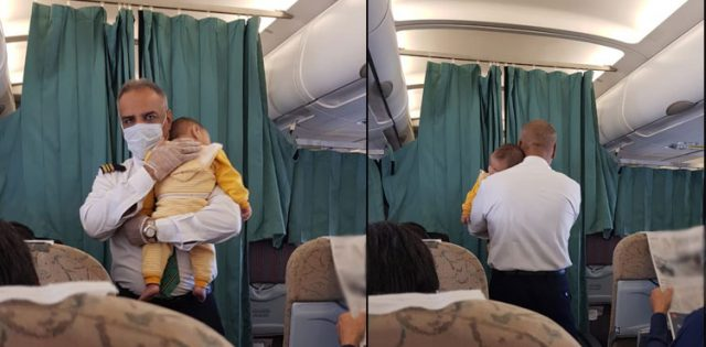 Photos of PIA steward soothing crying baby during flight go viral