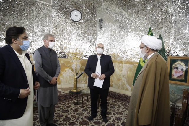 Foreign Minister Makhdoom Shah Mehmood Qureshi in Mashhad