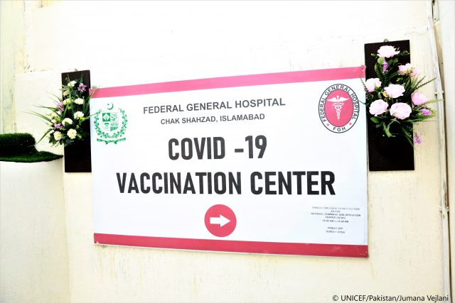 vaccinations for citizens aged 30 years  in pakistan