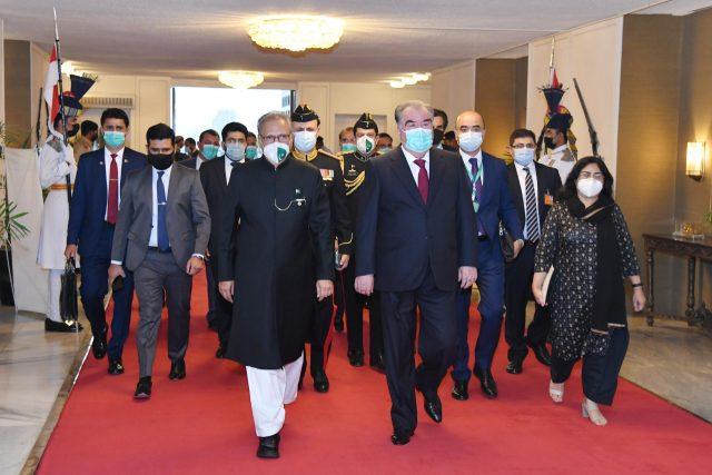 President Dr. Arif Alvi welcomed the President of Tajikistan, H. E. Mr. Emomali Rahmon