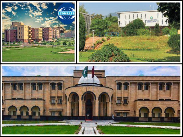 QAU, Abdul Wali Khan University Mardan and COMSATS University
