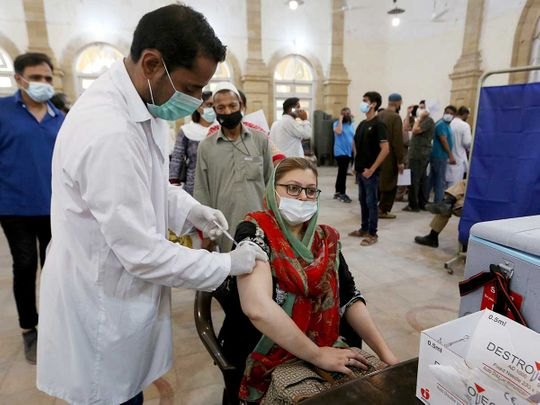 Record 200,000 vaccinated in Pakistan in one day