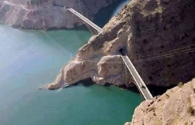 Aerial-View-of-Bridge-over-Atabad-Lake
