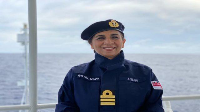 Durdana Ansari Becomes The First Muslim and Pakistani Captain of British Royal Navy