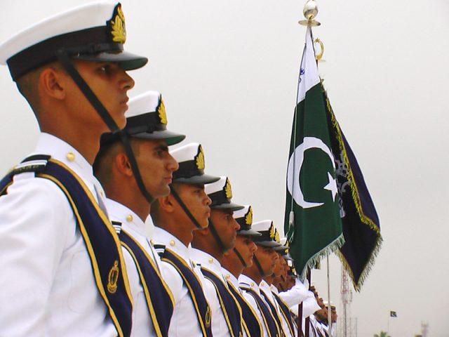 Pakistan Navy sailors at the tomb of Quaid e Azam