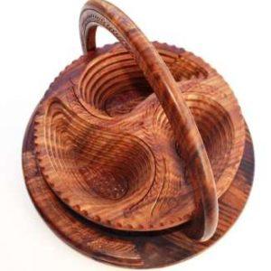 Dry Fruit Wooden Basket