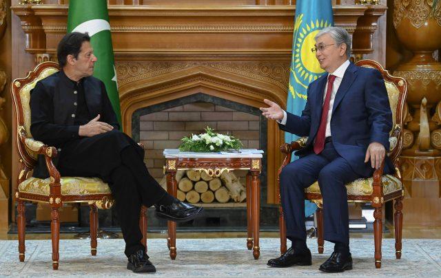 11 imran khan Meeting with Kazakhstan president