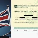 UK Recognizes NADRA Vaccination Certificate For Pakistani Passengers